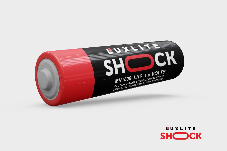 Логотип для батареек LUXLITE SHOCK - дизайнер DIZIBIZI