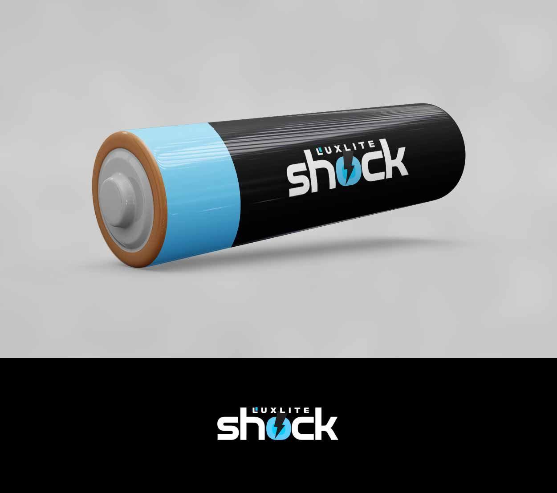 Логотип для батареек LUXLITE SHOCK - дизайнер Zastava