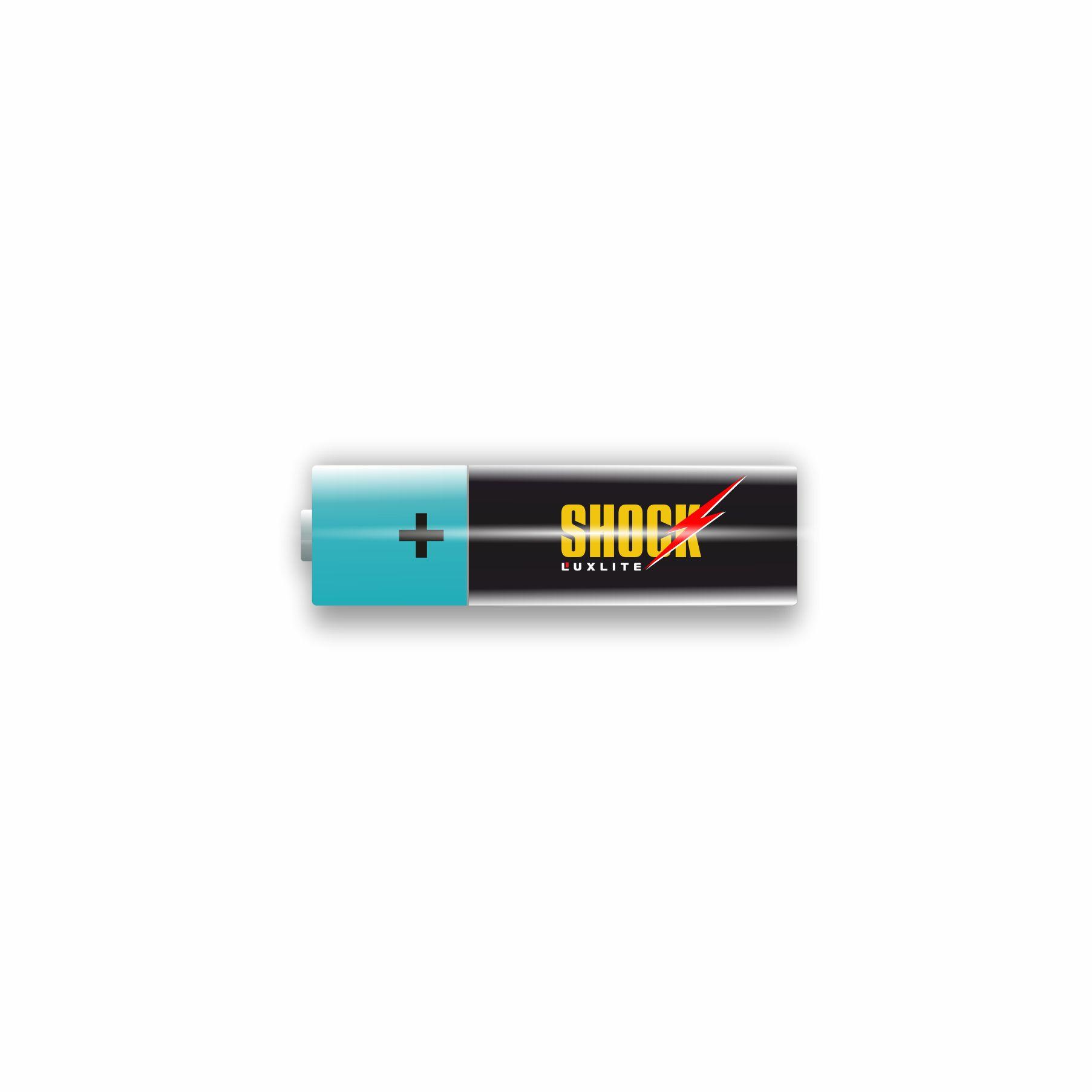 Логотип для батареек LUXLITE SHOCK - дизайнер ilim1973