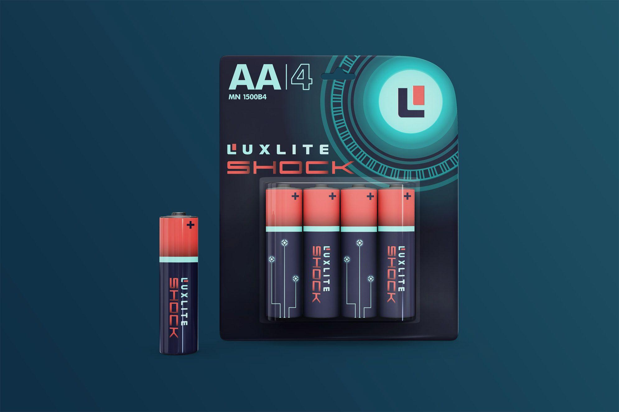 Логотип для батареек LUXLITE SHOCK - дизайнер RenataShaki