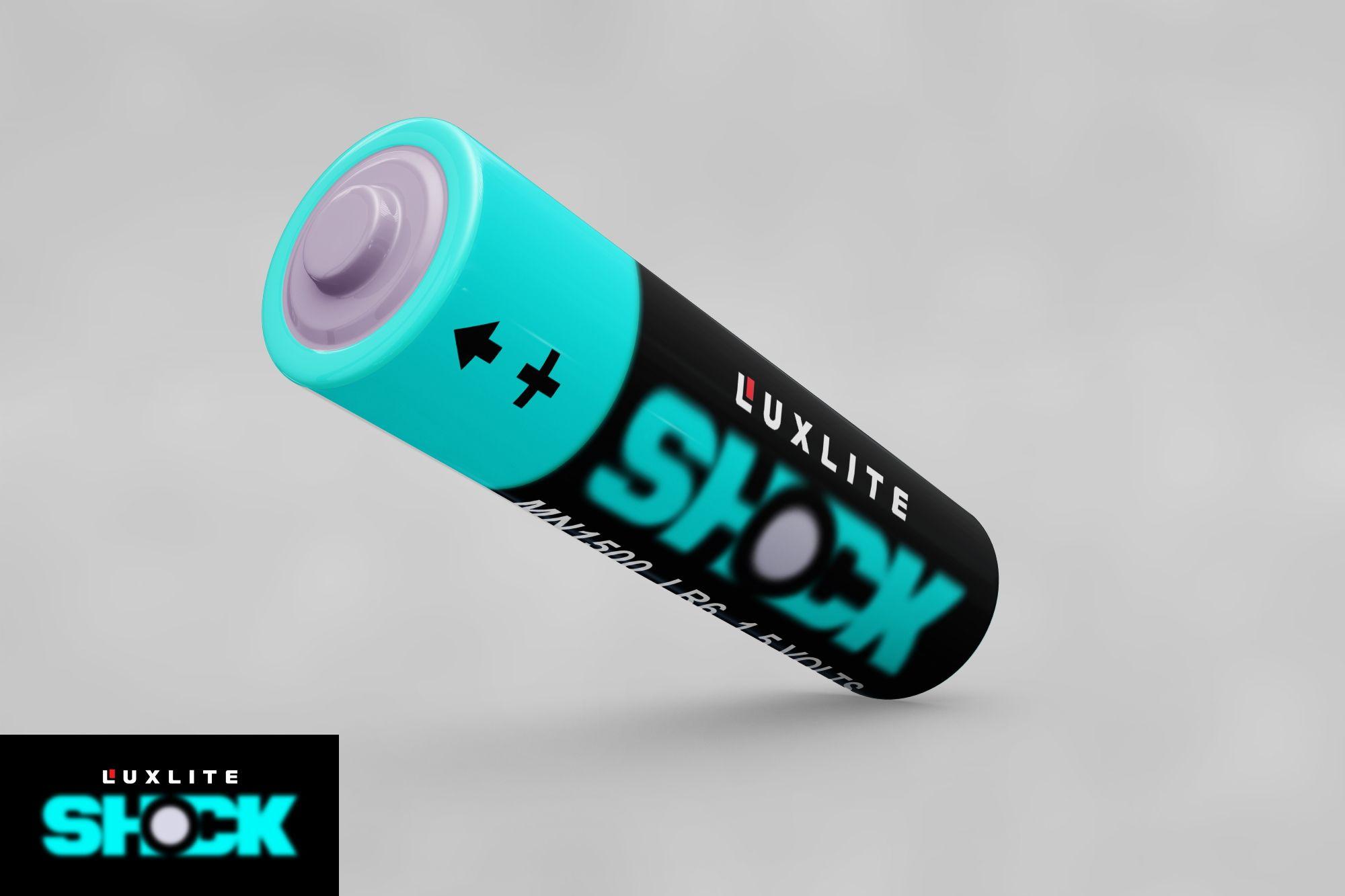 Логотип для батареек LUXLITE SHOCK - дизайнер ideymnogo
