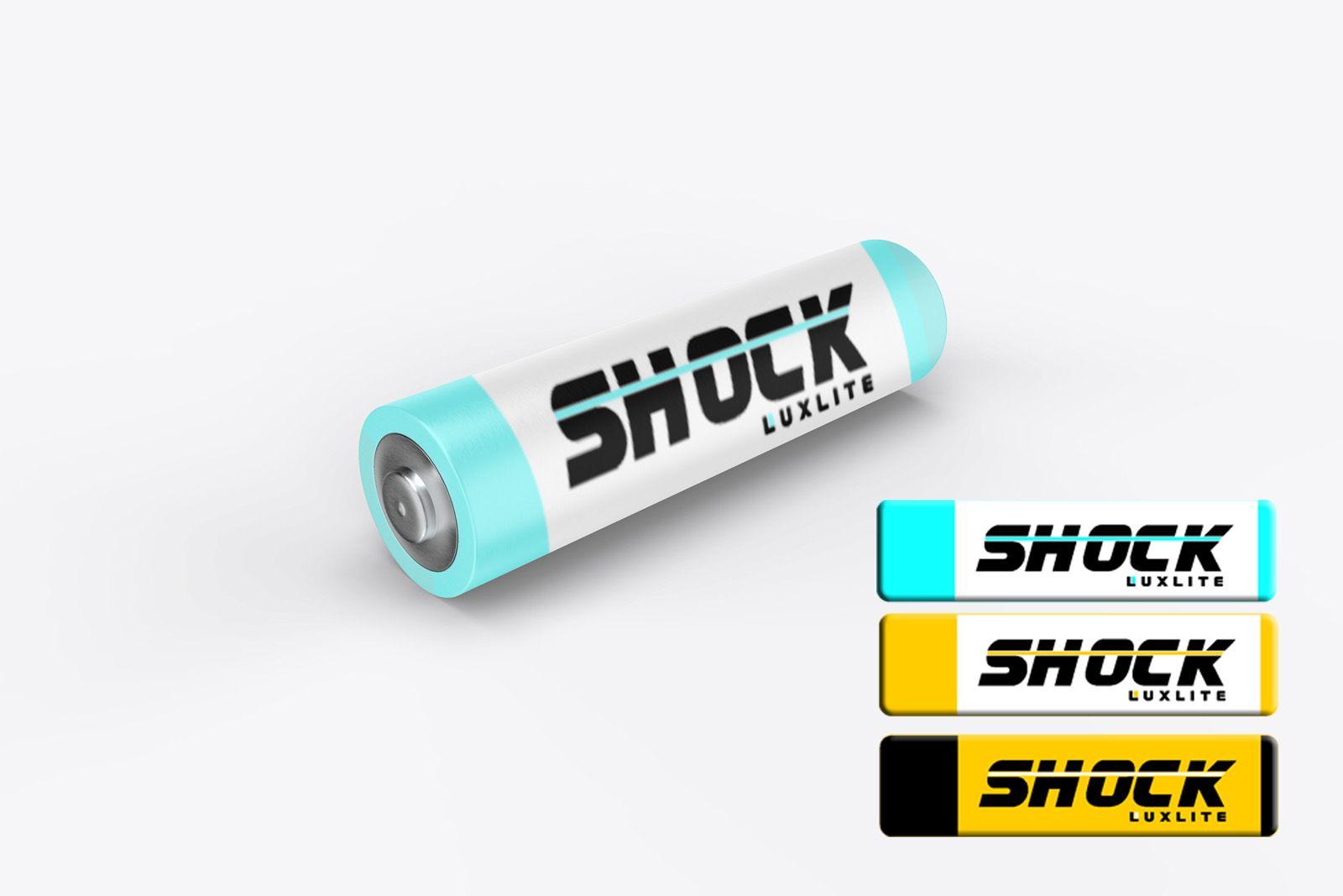 Логотип для батареек LUXLITE SHOCK - дизайнер yulyok13