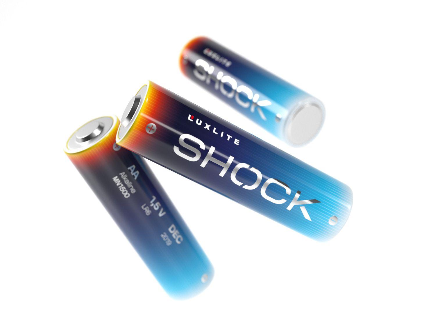Логотип для батареек LUXLITE SHOCK - дизайнер DmitryMikhailov