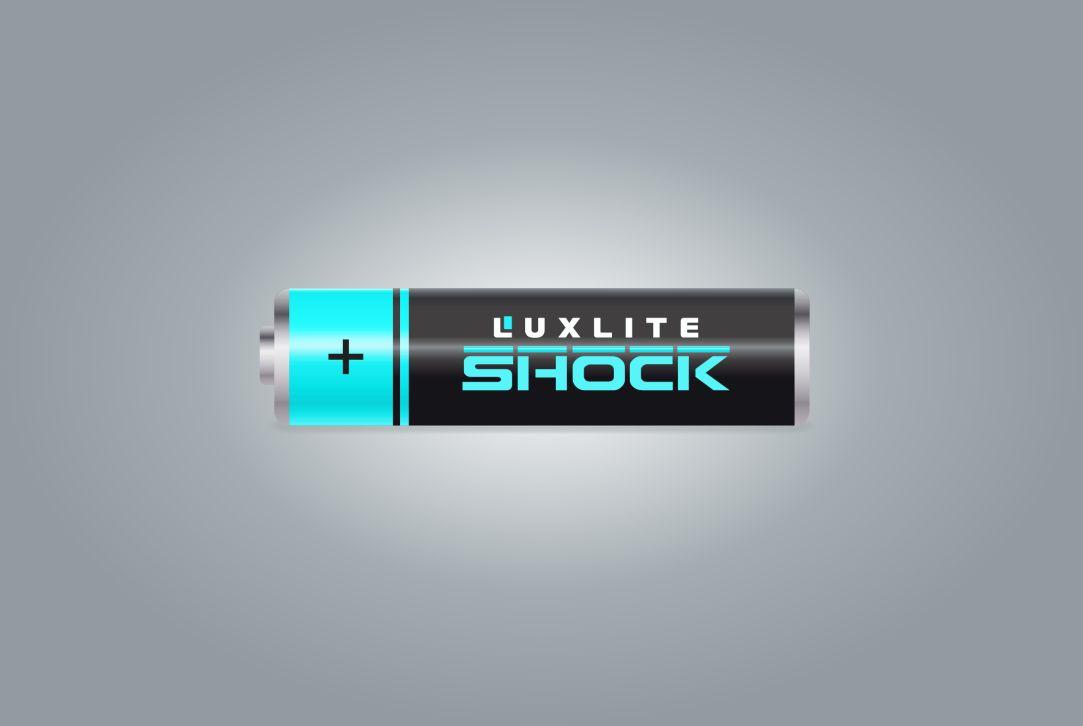 Логотип для батареек LUXLITE SHOCK - дизайнер Lara2009