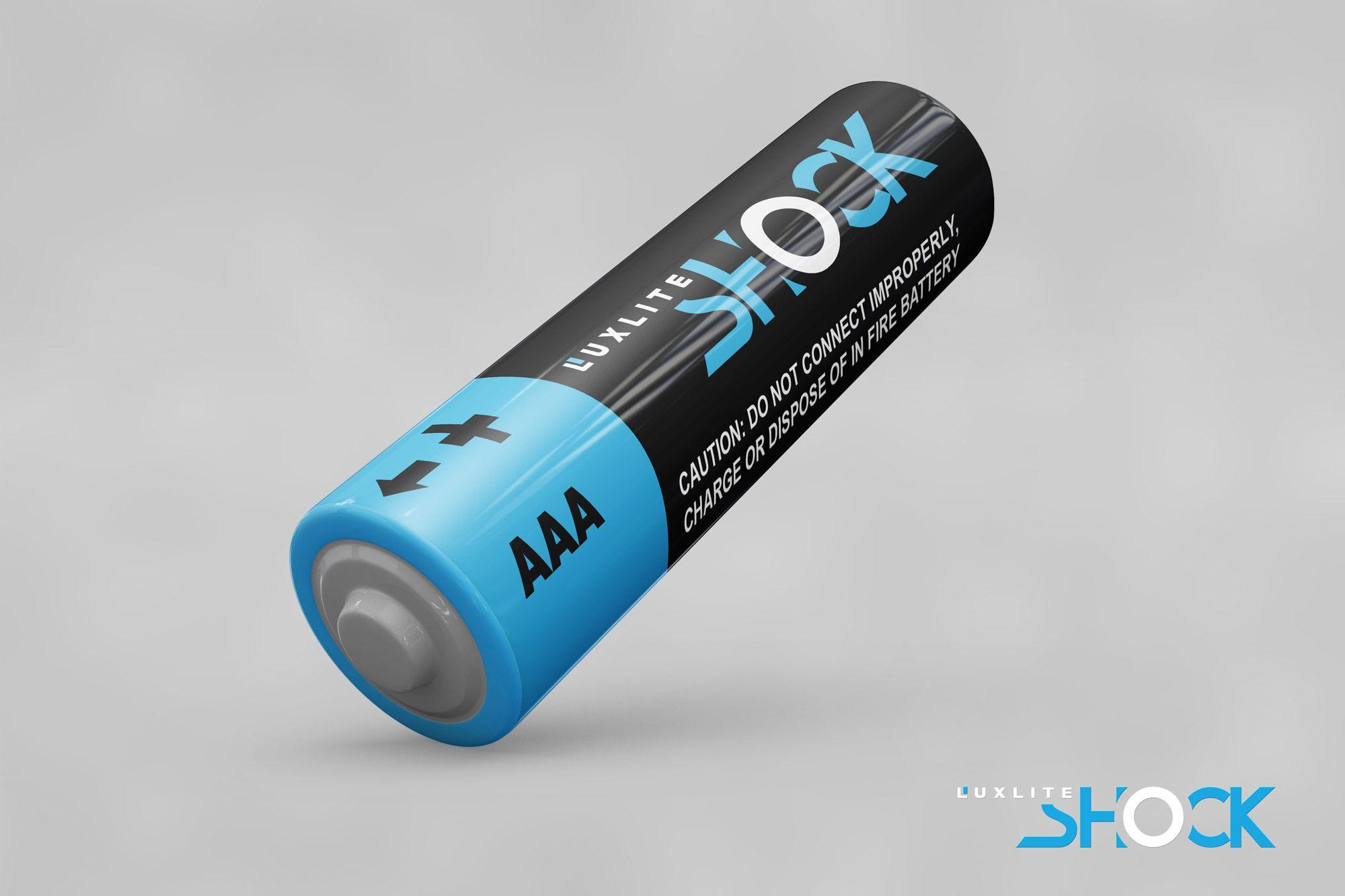 Логотип для батареек LUXLITE SHOCK - дизайнер Alphir