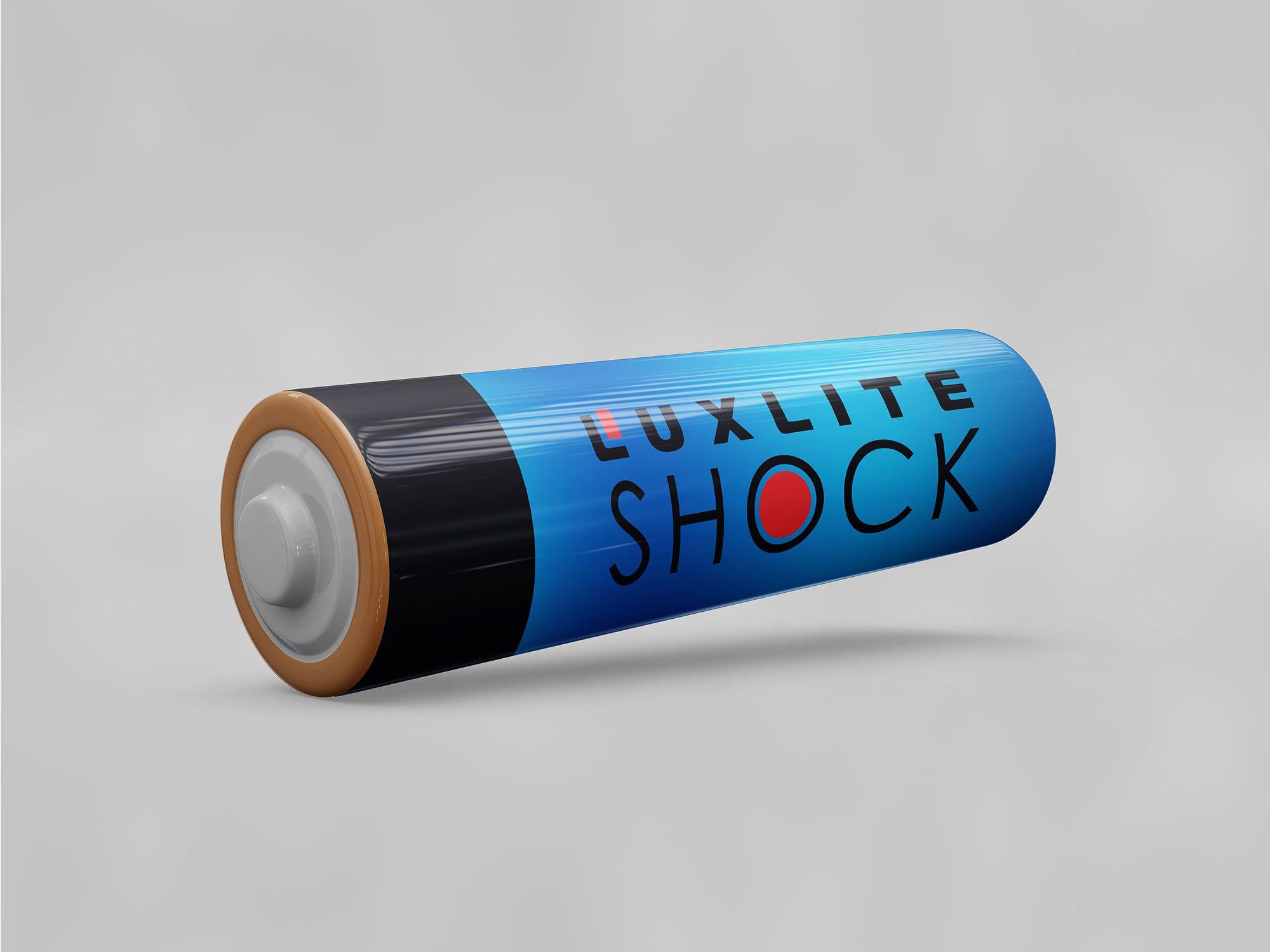 Логотип для батареек LUXLITE SHOCK - дизайнер ocks_fl
