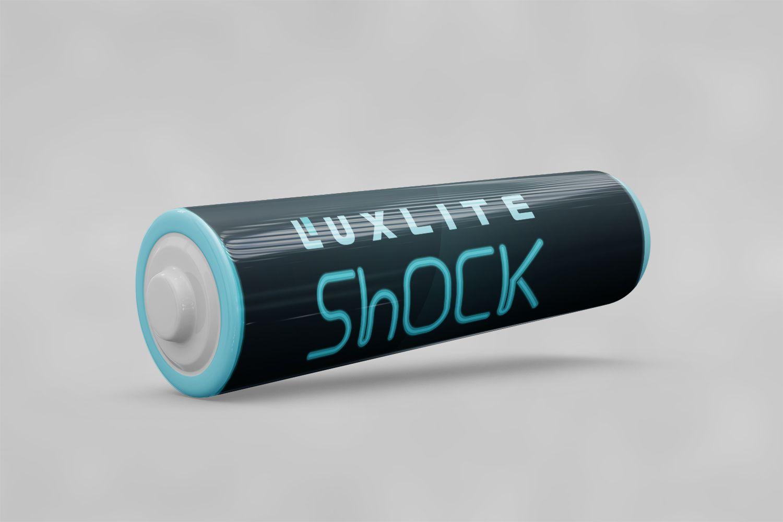 Логотип для батареек LUXLITE SHOCK - дизайнер I_Mamontov