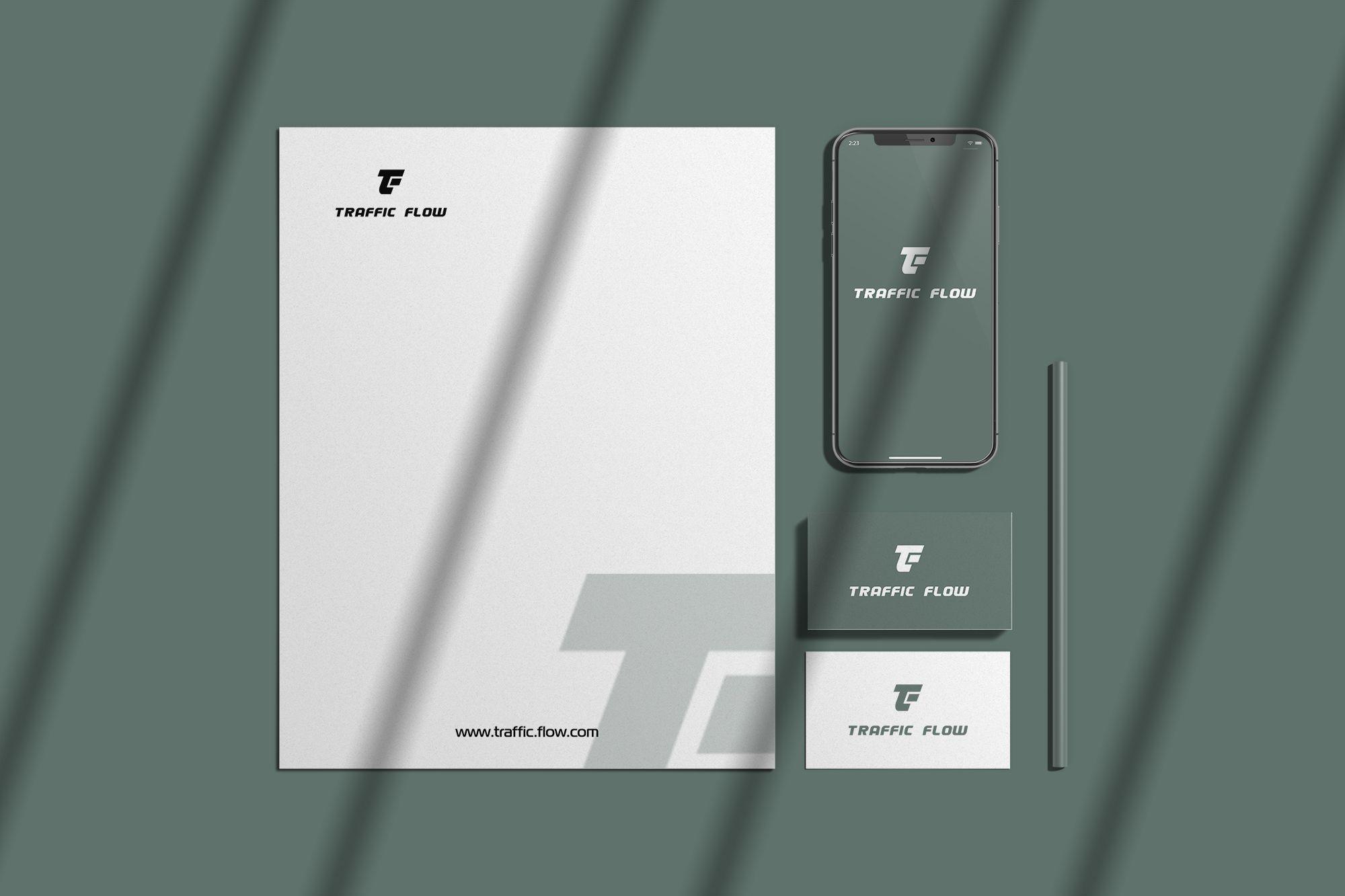 Лого и фирменный стиль для Traffic Flow - дизайнер markosov