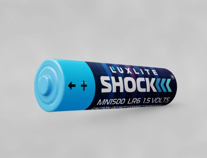 Логотип для батареек LUXLITE SHOCK - дизайнер markosov