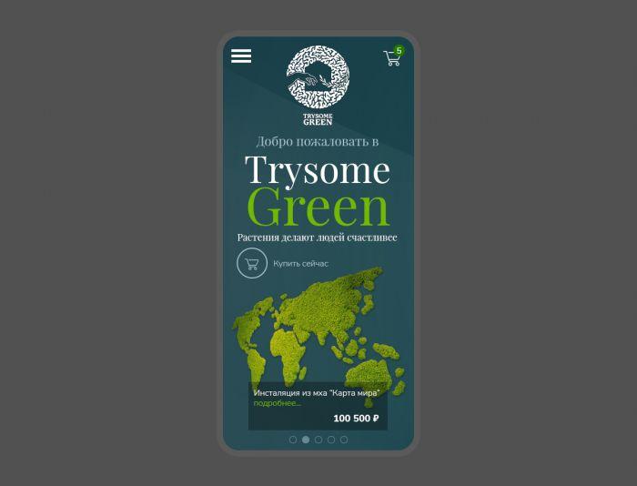 Веб-сайт для TrySomeGreen - дизайнер maxl-design