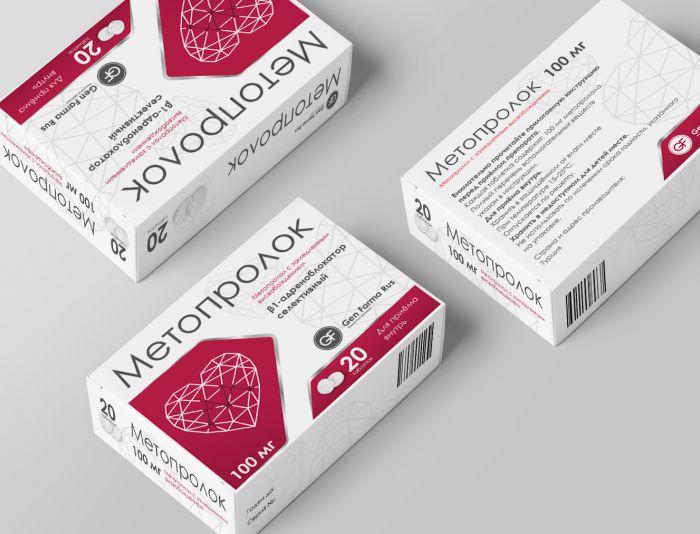 Разработка упаковки рецептурного кардио препарата - дизайнер AnniKa